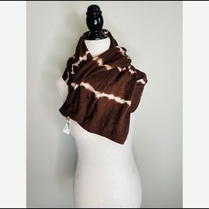 Michael Kors Tie-Dye Scarf Brown